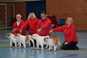 1. vinder Opdrætsklasse tak til Christian og (Agnes) til Pia og Carina for at stille vores hunde
